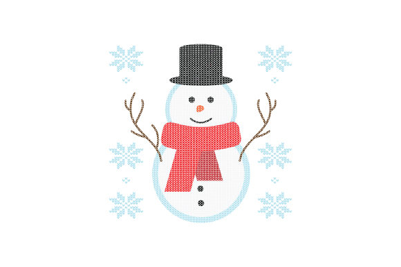 Snowman. Ugly Sweater Style Navidad Craft Cut File Por Creative Fabrica Crafts
