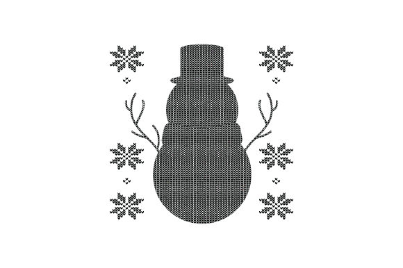 Snowman. Ugly Sweater Style Christmas Craft Cut File By Creative Fabrica Crafts - Image 2