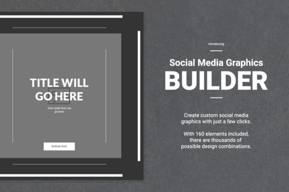 Social Media Graphics Builder Graphic Web Elements By Web Donut - Image 2