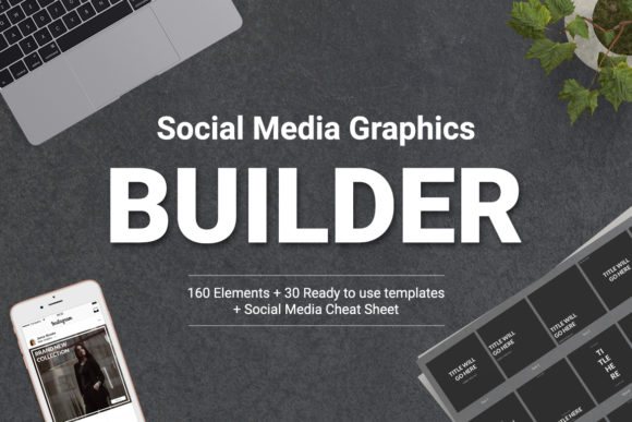 Social Media Graphics Builder Graphic Web Elements By Web Donut