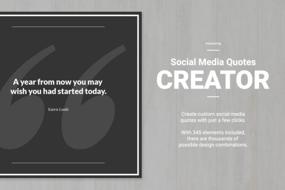 Download Free Social Media Quotes Creator Graphic By Web Donut Creative Fabrica for Cricut Explore, Silhouette and other cutting machines.