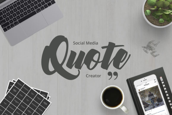 Social Media Quotes Creator Graphic Web Elements By Web Donut
