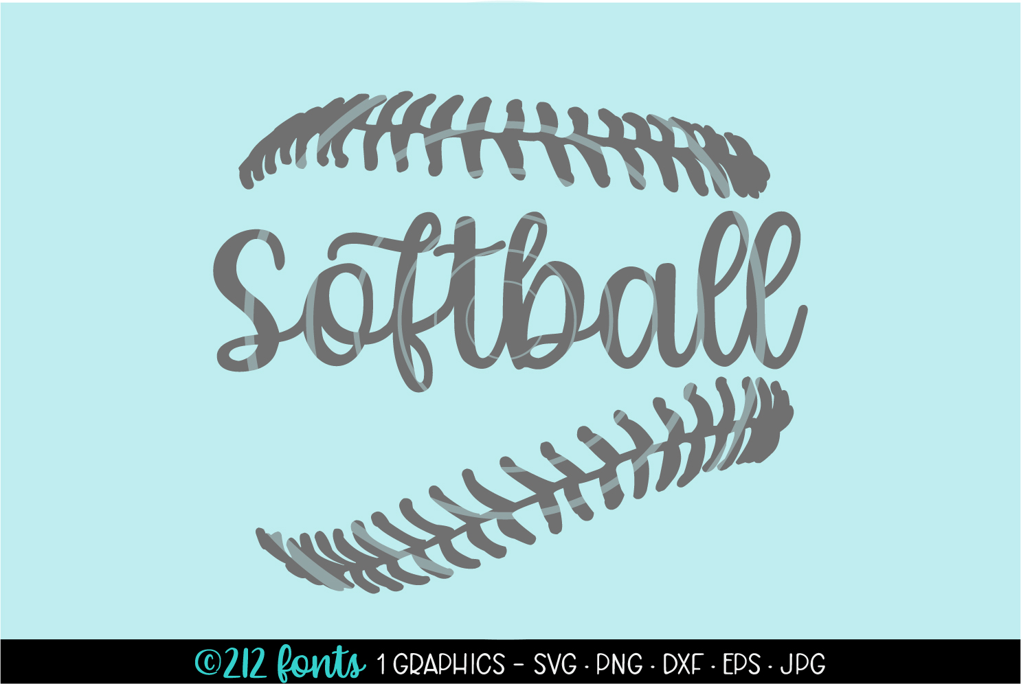 Download Free Softball Laces Graphics Graphic By 212 Fonts Creative Fabrica SVG Cut Files