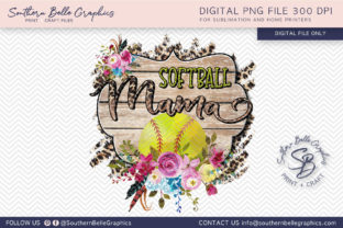 Softball Mama Graphic By Southern Belle Graphics