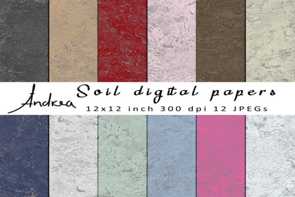 Print on Demand: Soil Digital Papers Graphic Textures By Andrea Kostelic