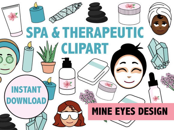 Spa and Therapeutic Clipart Graphic By Mine Eyes Design