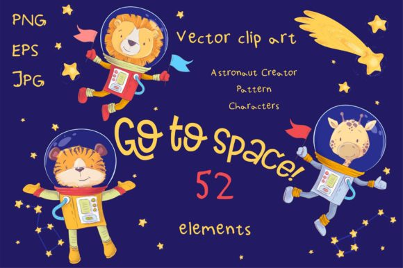 Print on Demand: Space – Vector Clip Art Graphic Illustrations By nicjulia