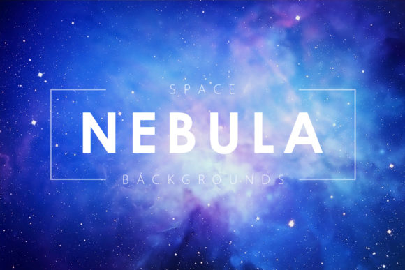 Print on Demand: Space Nebula Backgrounds Graphic Backgrounds By ArtistMef