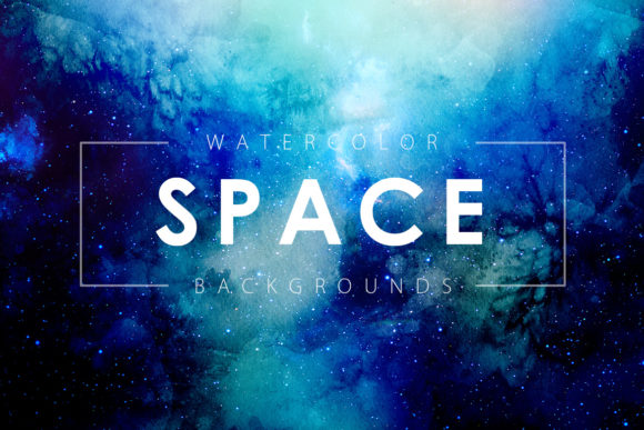 Print on Demand: Space Watercolor Backgrounds Graphic Backgrounds By ArtistMef