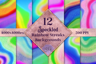 Speckled Rainbow Streaks Backgrounds Graphic By SapphireXDesigns
