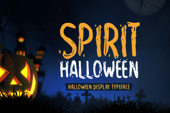 Download Free Spirit Halloween Fuente Por Shattered Notion Creative Fabrica for Cricut Explore, Silhouette and other cutting machines.