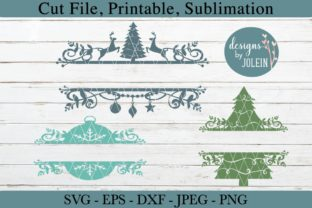 Download Free Split Christmas Designs Graphic By Designs By Jolein Creative for Cricut Explore, Silhouette and other cutting machines.