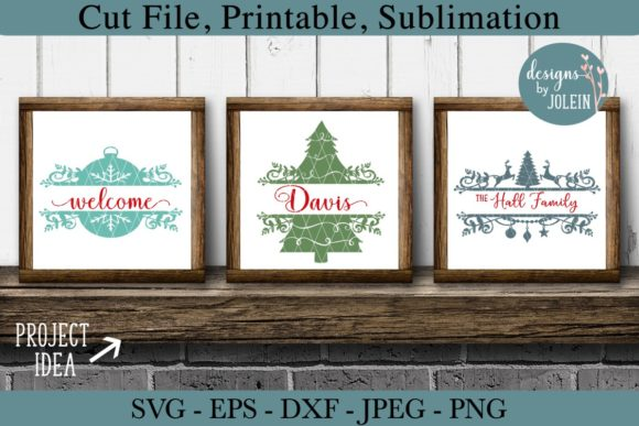 Print on Demand: Split Christmas Designs Graphic Crafts By Designs by Jolein - Image 5