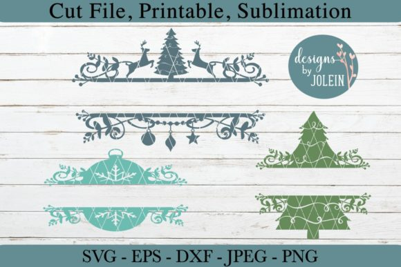 Print on Demand: Split Christmas Designs Graphic Crafts By Designs by Jolein