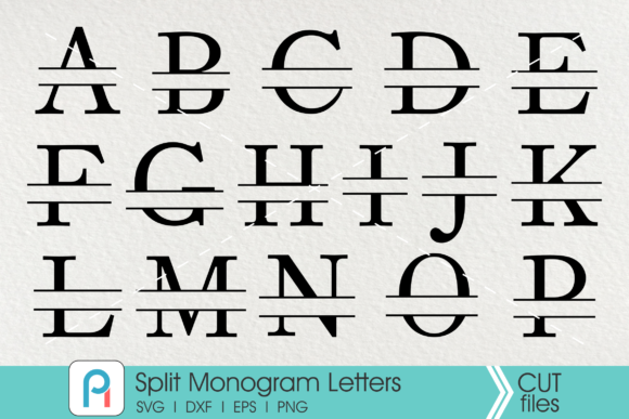 Split Letter Monogram Svg Graphic Crafts By Pinoyartkreatib