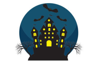Spooky Castle with Bats Craft Design By Creative Fabrica Crafts