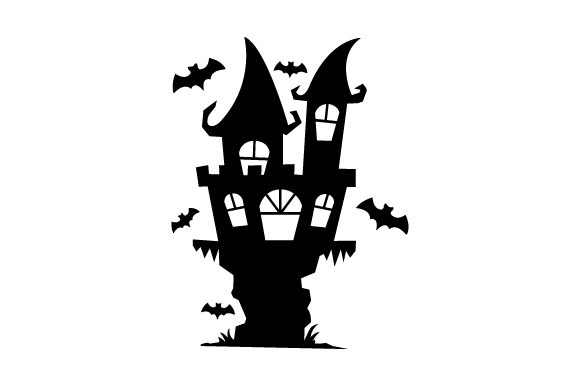 Spooky Castle with Bats - Halloween Halloween Craft Cut File By Creative Fabrica Crafts - Image 1