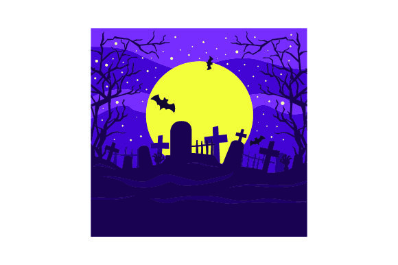 Download Free Spooky Cemetary Halloween Svg Cut File By Creative Fabrica for Cricut Explore, Silhouette and other cutting machines.