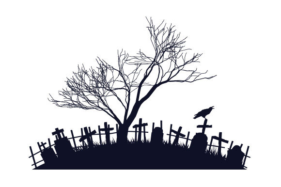 Spooky Cemetery Halloween Archivo de Corte Craft Por Creative Fabrica Crafts