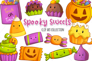 Spooky Sweets Clip Art Collection Graphic By Keepinitkawaiidesign