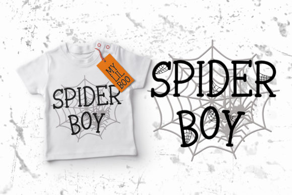 Print on Demand: Spooky Webbie Display Font By dmletter31 - Image 3