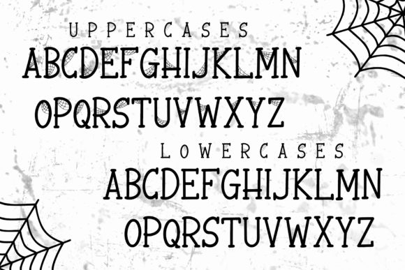 Print on Demand: Spooky Webbie Display Font By dmletter31 - Image 5