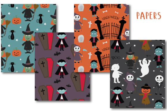 Print on Demand: Spookytown Paper Graphic Patterns By poppymoondesign - Image 2