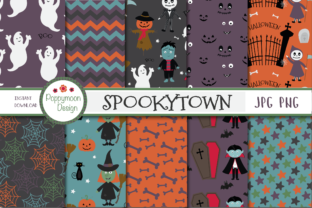 Spookytown Paper Graphic By poppymoondesign