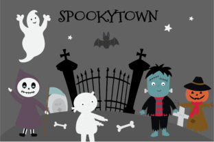 Spookytown Graphic By poppymoondesign