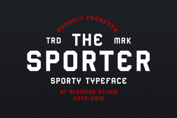Print on Demand: Sporter Sans Serif Font By Blankids Studio - Image 1