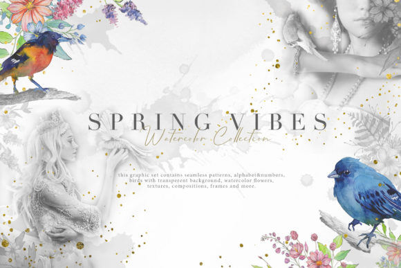 Spring Vibes Graphic Illustrations By NassyArt