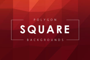 Square Polygon Backgrounds Graphic By ArtistMef
