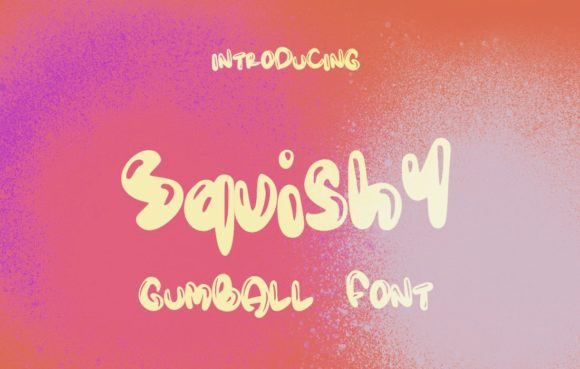 Print on Demand: Squishy Decorative Font By lunarctic - Image 1