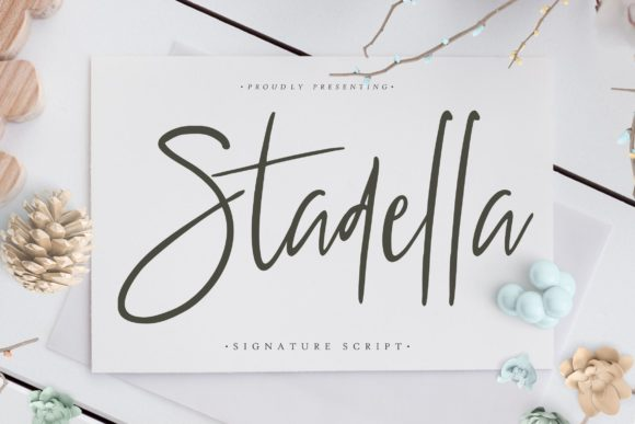 Print on Demand: Stadella Script & Handwritten Font By CreatypeStudio