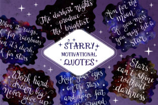 Print on Demand: Starry Quotes & Sublimation Designs Graphic Crafts By tatiana.cociorva