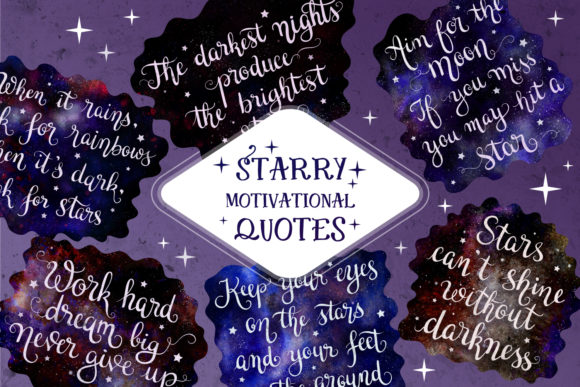 Print on Demand: Starry Quotes SVG & Sublimation Designs Graphic Crafts By tatiana.cociorva
