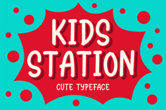 Print on Demand: Station Kids Manuscrita Fuente Por Blankids Studio
