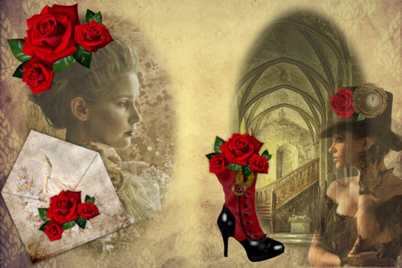 Print on Demand: Steampunk Backgrounds with Free Clipart Graphic Crafts By The Paper Princess - Image 3