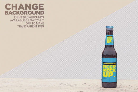 Stone Floor Beer Mockup Graphic Product Mockups By SmartDesigns - Image 2
