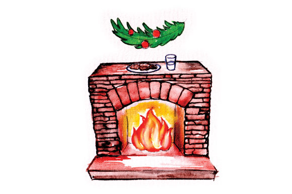 Download Free Stone Fireplace With Cookies For Santa Svg Cut File By Creative for Cricut Explore, Silhouette and other cutting machines.