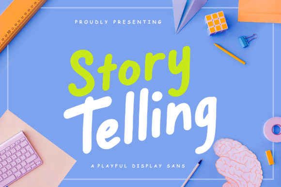 Print on Demand: Story Telling Sans Serif Font By CreatypeStudio