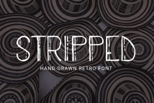 Stripped Sans Serif Font By Craft-N-Cuts