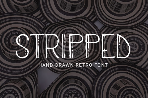 Print on Demand: Stripped Sans Serif Font By Craft-N-Cuts