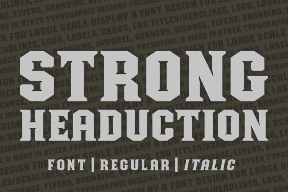 Print on Demand: Strong Headucation Display Font By Situjuh