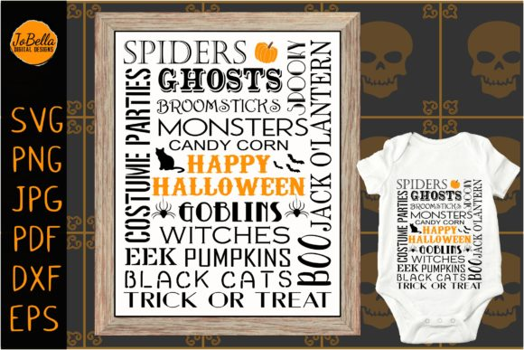 Download Free Subway Art Halloween Svg And Printable Graphic By Jobella for Cricut Explore, Silhouette and other cutting machines.