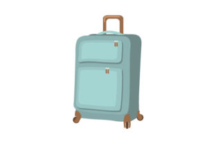 Suitcase with Wheels Craft Design By Creative Fabrica Crafts