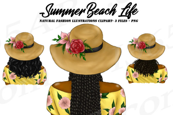 Summer Hairstyles Graphic Illustrations By Deanna McRae
