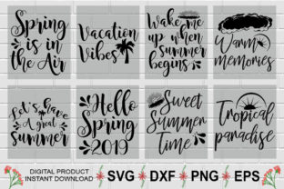 Download Free Summer Quotes Design Bundle Graphic By Aesthetic Studio for Cricut Explore, Silhouette and other cutting machines.