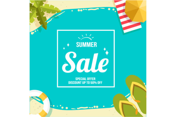 Summer Sale Graphic Backgrounds By fatih studio