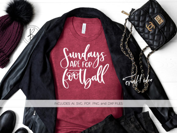 Download Free Sundays Are For Football Quote Graphic By Beckmccormick for Cricut Explore, Silhouette and other cutting machines.